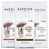 Barnie's Coffee & Tea Sweet Treat Ground Coffee Trio, Sweetheart Blend, German Chocolate Cake, Cinnamon Macadamia Nut, Medium Roast, Arabica Coffee, Three 10 oz Bags
