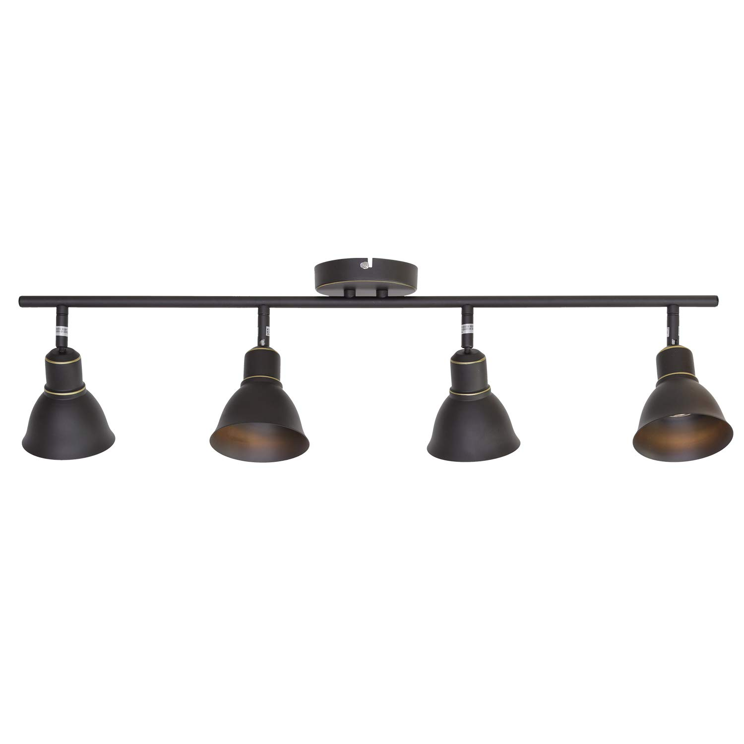 MELUCEE 4-Light Ceiling Spotlights Track Lighting Kit, Kitchen Track Lighting Fixtures Ceiling, 35W GU10 Base Halogen Bulbs Included, Oil Rubbed Bronze Finished