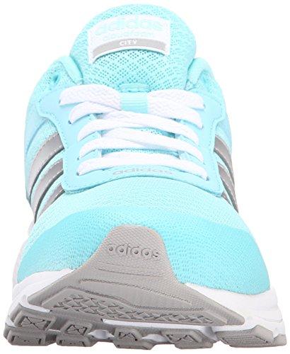 Adidas Neo Cloudfoam Vs City W ocasional de la zapatilla de deporte, negro / plata metálica / flapn Blue/Metallic Silver/Clear Onix Grey