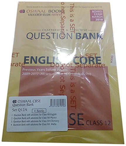 Download Oswaal CBSE Chapterwise/Topicwise Question Bank for Class 12 English Core ebook