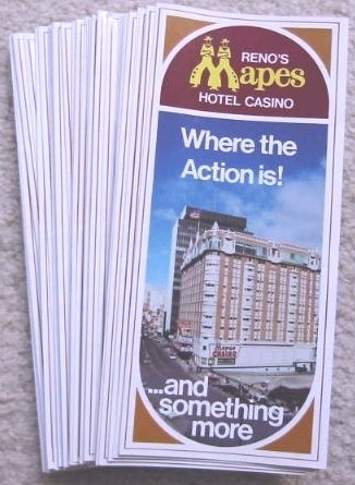 (Vintage Mapes Hotel Casino In Reno Nevada Brochure)