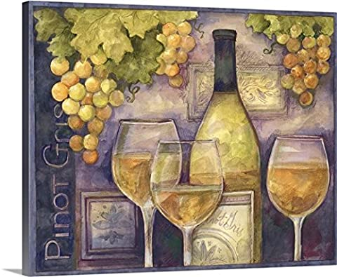 Susan Winget Gallery-Wrapped Canvas entitled Pinot Gris - Work Pinot Gris Wine