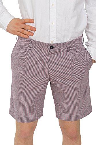 Incotex Pantalon Homme 48 Rouge / Short Taille normale Coupe droite