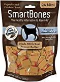 SmartBones Peanut Butter Dog Chews, Mini 24 Count, 24 Pack