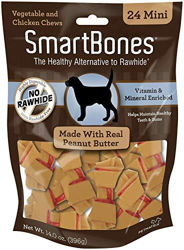 SmartBones Peanut Butter Dog Chews, Mini 24 Count, 24 Pack by SmartBones (Image #4)