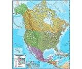 north america wall map - North America Laminated Wall Map