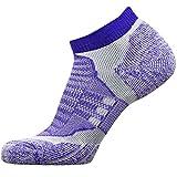 No-Show Wool Running Socks – Ultra-Light Merino Wool Athletic Socks, Trail Socks (Purple, Small)