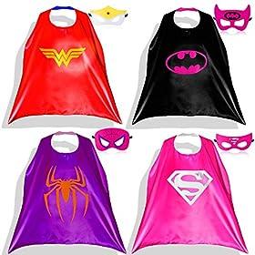 - 51 2BCTSHTQ7L - Zaleny Superhero Dress up Costumes – 4 Satin Capes and 4 Felt Masks