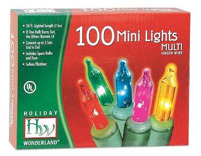 Holiday Wonderland # 565223 Juego de luces multicolores de navidad de 100 colores