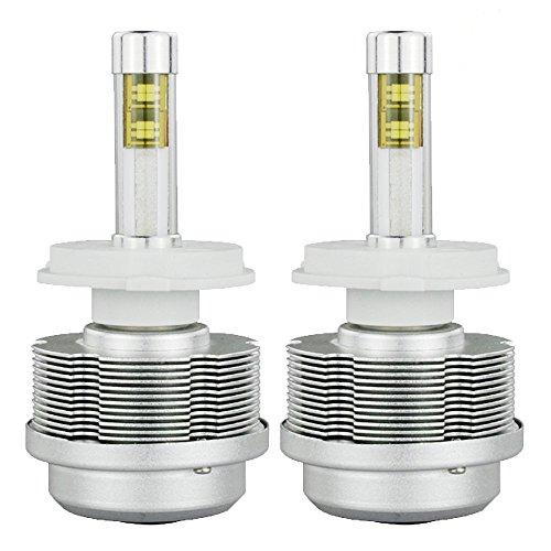 Torchstar 2S Automotive H4 High Low Dual Beam LED Headlight Conversion Kit, 2pcs 9003/HB2/H4 LED Headlight Bulbs w/Cables, Dust Caps, 30W 3600LM Each, Daylight 6000K Waterproof IP68