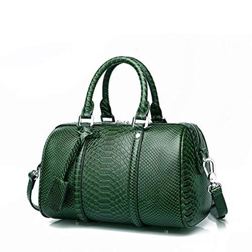Vintage Houyazhan a da donna rosso vera pelle tracolla colore Borsa a in green Borse superiore A con tracolla manico vino Ywqxr0gYO8