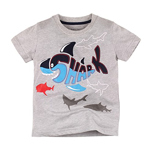 Boys Toddler T Shirts Cute Shark Sport Short Sleeve Tops Cotton Tee Shirt Sweatshirt for Kids (Sleeve Tee Regular Short)