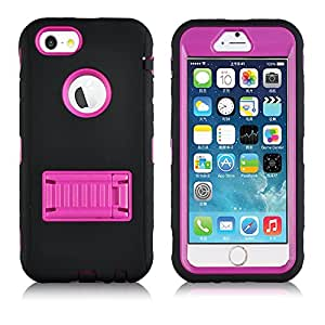 iPhone 6 Hot Pink case,Plus,Ezydigital Carryberry 3 in 1 Hard Back Case Skin for iPhone 6(Blue)
