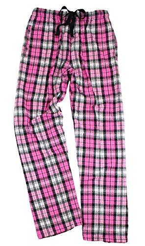 (Boxercraft Men's Elastic Waist Flannel Pants, Fuchsia Sparkle, X-Large)