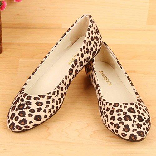Bailarinas Planos Leopardo y Zapatos Casuales C de Mujer Verano Zapatos Plataforma Estampado xwXnpBq