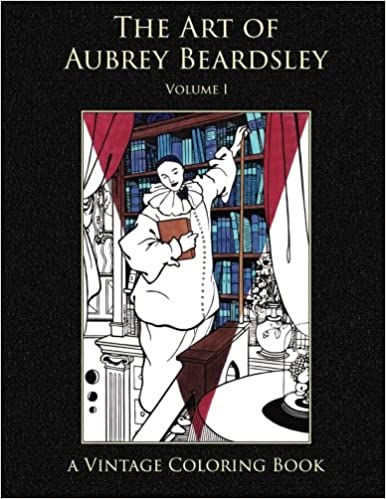the art of aubrey beardsley vintage coloring adult coloring books