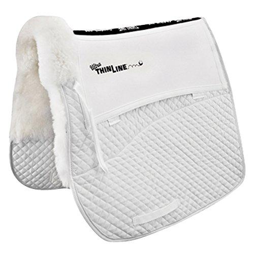 Thinline Comfort Sheepskin Shimmable Dressage Saddle Pad