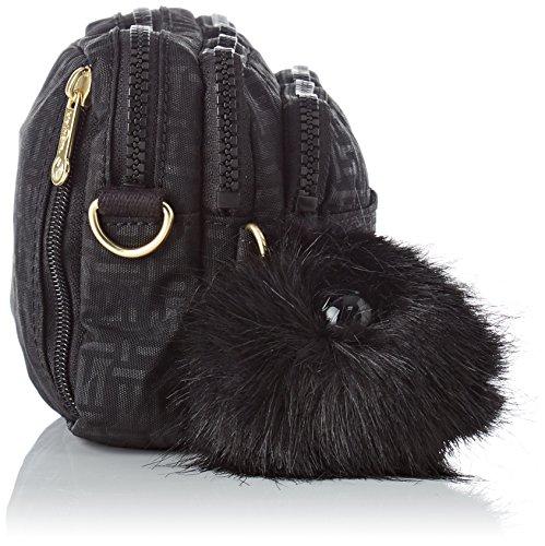 hombro Multiple Mujer bolsos Negro y Shoppers Pylon Kipling Emb de Black dBwXAXH