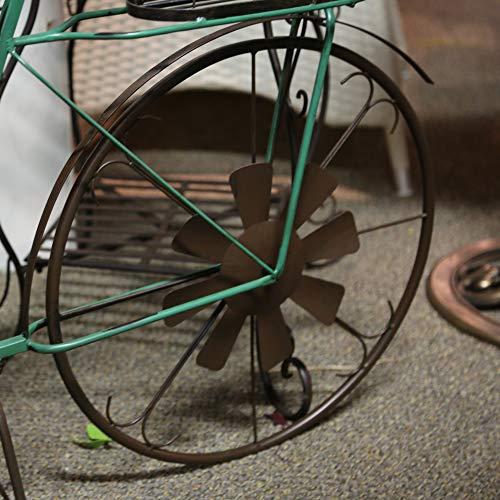 GIL 2188480 52.95InL Solar Metal Bicycle Spring x 17.52InW x 33.46InH, Green ()