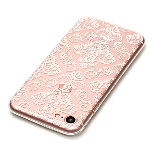 iPhone 8 Hülle,Kunstmuster Premium Handy Tasche Schutz Transparent Schale Für Apple iPhone 8 + Zwei Geschenk