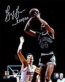 #8: George Gervin Autographed Picture - 8x10 Iceman jumpshot vs Rockets) - Autographed NBA Photos