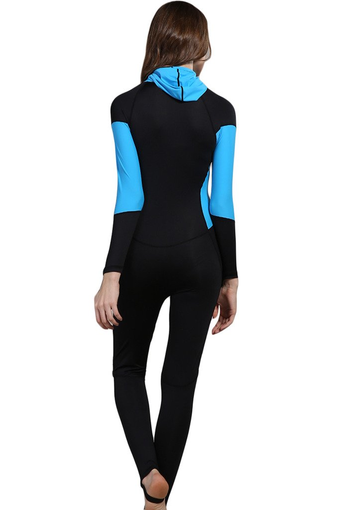 dd2668d0d2 Amazon.com: Micosuza Full Body Swimsuit Swim Suit Full Coverage - Long Legs  Long Sleeves for Women UV Sun Protection One Piece Rash Guard (FBA): Sports  & ...