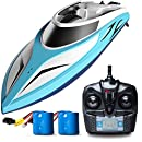 Remote Control Boat for Pools and Lakes - H102 Velocity Fast RC Boat for Adults and Kids, Self Righting Brushless Remote Controlled Toy Speed Boat