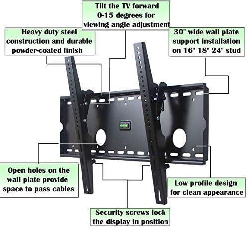 VideoSecu Tilting Wall Mount Plasma LCD HDTV Bracket for Sanyo DP37647 LMU-TK40C1 LMU-TK40C2 LMU-TK40D2 42LM4WPN- CE42LM4WPN DP42647 DP42848 DP42647 PDP42H2W DP46848 DO50747 DP52848 MP501B C5S