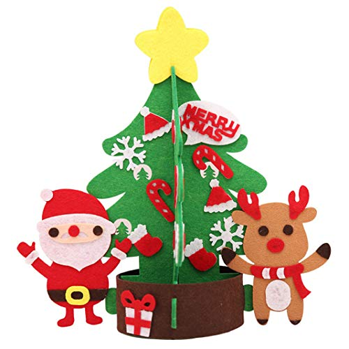 ristmas Tree Set Without Light DIY Handmade Gift Detachable Xmas Gifts Jewelry Door Wall Hanging Children Handmade Puzzle Christmas Decoration ()