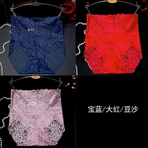 RRRRZ*Bustiers, tentación para grandes encajes ropa interior pantalones esquina 3 girls high espalda recta y apretar su abdomen ropa interior 3 instalado ,XL / Azul / Rojo Color zongzi habitual
