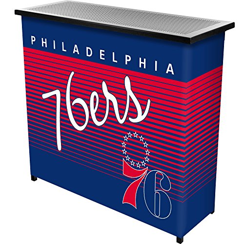 NBA Philadelphia 76ers Portable Bar with Case, One Size, Black by Trademark Global