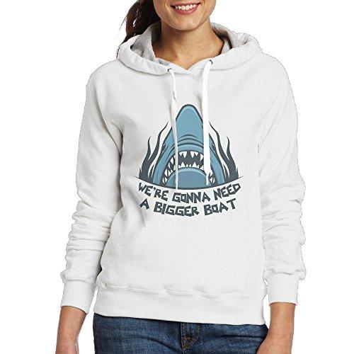DiFeiFuShi Female Models Long Sleeve Sweater We're Gonna Need A Bigger Boat TravestyFashion Casual Sweater Hooded - Bigger Boat A Your Need Gonna