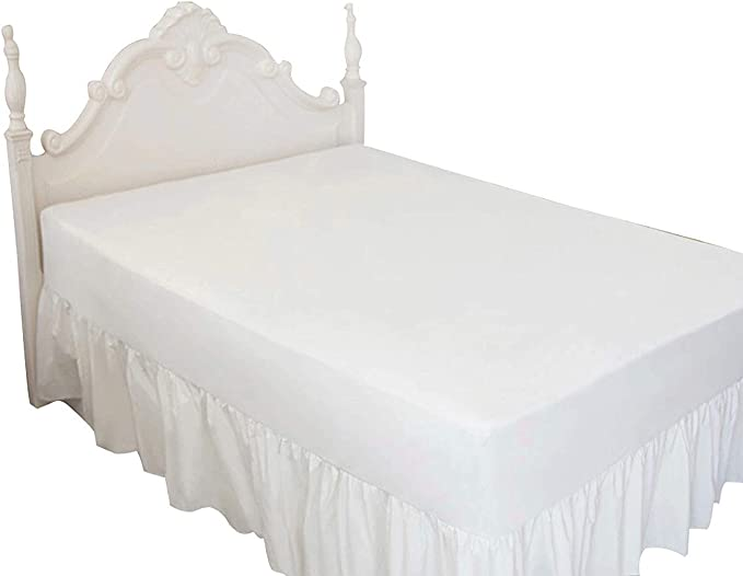 """Ruffle Bed Skirt Split Corner Solid Cotton 625 TC All Size Drop 20/"""" to 24/"""" inch"""