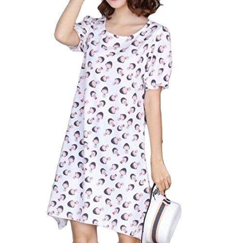 Swing Domple Irregular Summer Women's Floral Short Sleeve Dress Mini 1 CCA4Wr