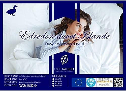 Label Naturel Edredón de Abuela Islandia 90% plumón de Pato de 600 ...