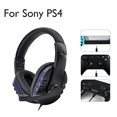 LINGLONGAN Wired Gaming Headset for NS Switch/ PS4/ PC/Phone/ 3DS/ PSP/Tablets, Portable Lightweight Black Game Headphone with Microphone, with Superior Sound Quality: Garden & Outdoor