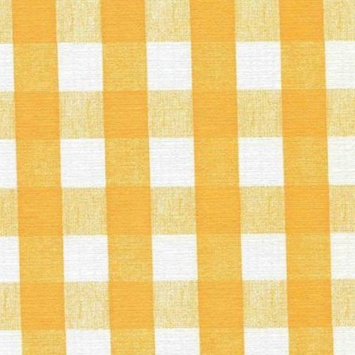 Yellow Chess Check Series F0269 Vinyl Tablecloth 54