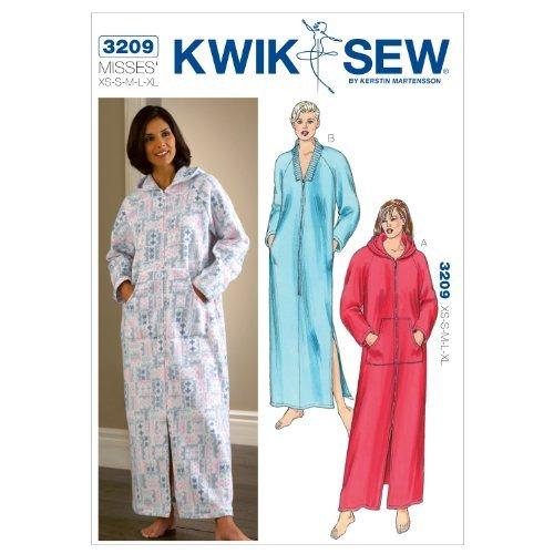 Kwik K3209 - Patrones de costura para batas de tamaño extra pequeño (talla S, M, L, XL), color blanco: Amazon.es: Hogar