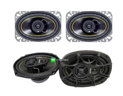 "NEW KICKER DS46 4x6"" 100W 2 Way Car Speakers + KICKER DS693"