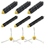 LOVE(TM)Brush Kit for Robot 600 and 700 Series 620 630 650 660 680 760 770 780 3-Armed Side Brushes, Flexible Beater Brush, Bristle Brush