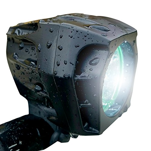 Bright Eyes FULLY WATERPROOF 1600 lumen Rechargeable Mountain, Road Bike Headlight, 6400mAh battery (NOW 5+ HOURS on Bright Beam). Comes w/ FREE DIFFUSER LENS and FREE TAILLIGHT (Bike Road Mountain)