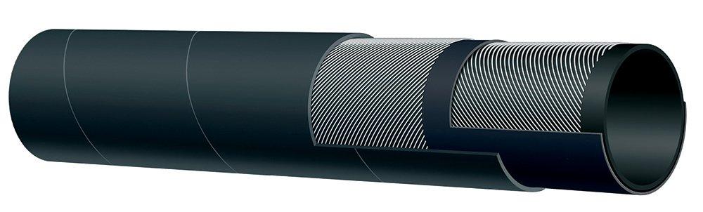 Kuriyama LT753AA125X50 2-Ply Abrasive Material Blast Hose, 150 PSI, 1.890'' Outside Diameter, 1''-1/4'' Inside Diameter, Black