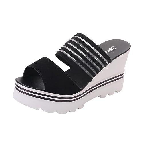 Cinnamou Chanclas Mujer Verano, Sandalias con Plataforma para Mujer Zapatilla Zapatos Sandalias de Verano con Lazo Zapatilla Flip-Flops Al Aire Libre de ...
