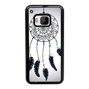 caja del teléfono celular Funda HTC uno M9 funda Negro hermoso atrapasueños O8S4SL
