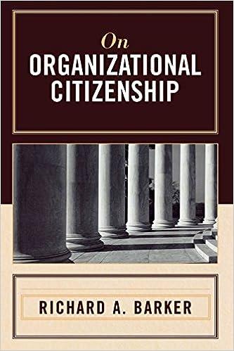 Real bok mp3 nedlasting On Organizational Citizenship 0761835032 PDF by Richard A. Barker