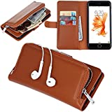 "Urvoix iPhone 7 Case, Organizer PU Leather Clutch Purse with Detachable Case, Card Slots and ZIP Pouch Cover for iPhone7 (4.7"")"