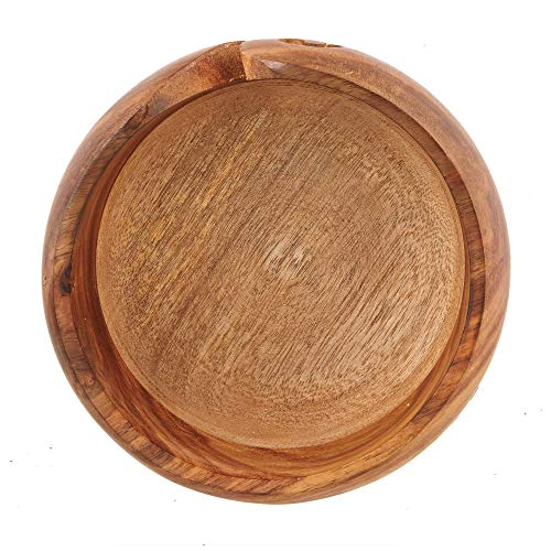 Mother's Day Special Wooden Yarn Bowl for Knitting and Crochet, Large Size 6'' X 3'' Durable and Portable Yarn Storage for Knitters- Beautiful Gift for Mom, Grandmother by Eximious India (Image #4)