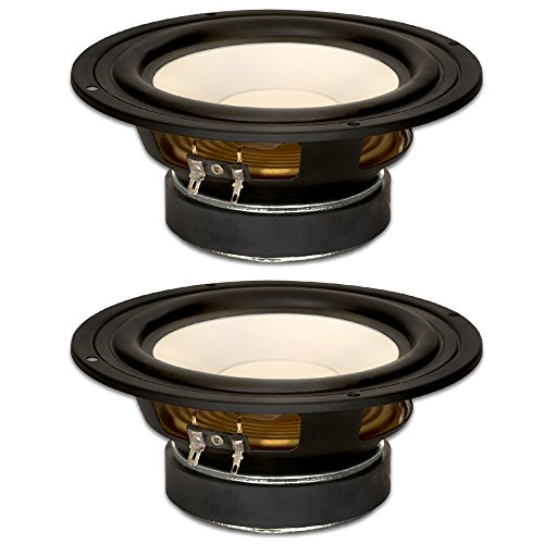 "Goldwood Sound, Inc. Stage Subwoofer, Poly Cone 6.5"" Woofers 170 Watts each 4ohm Replacement 2 Speaker Set (GW-S650/4-2)"