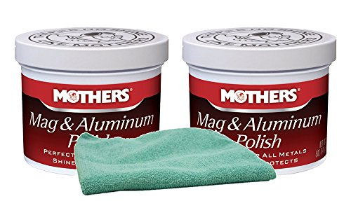 Mothers Mag & Aluminum Polish 5 oz Bundle with Microfiber Cloth (3 Items)