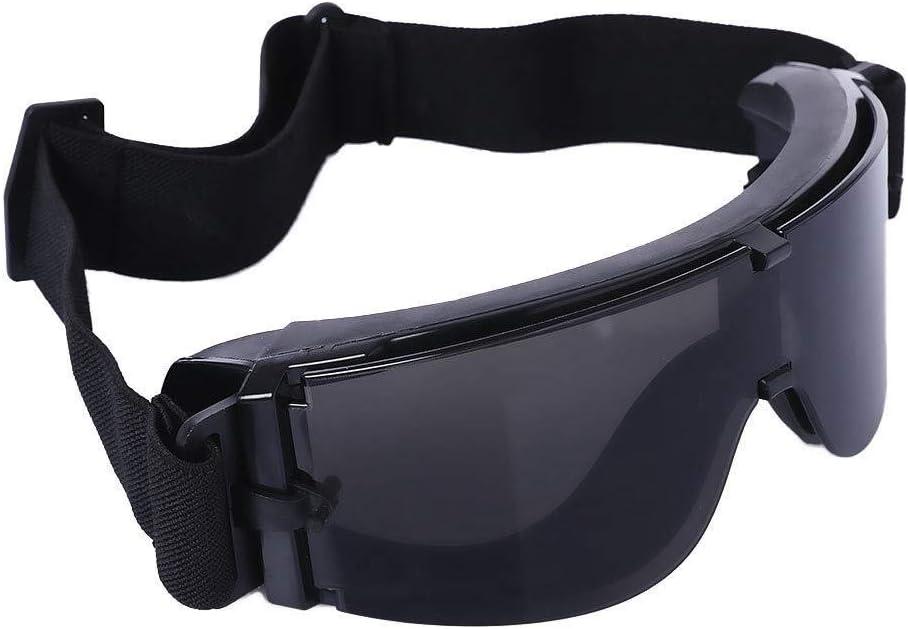 Lzdingli Accesorios Deportivas X800 Military Tactical Goggles Gafas Protectoras con Bolsa for CS Game Shooting para los Entusiastas del Aire Libre